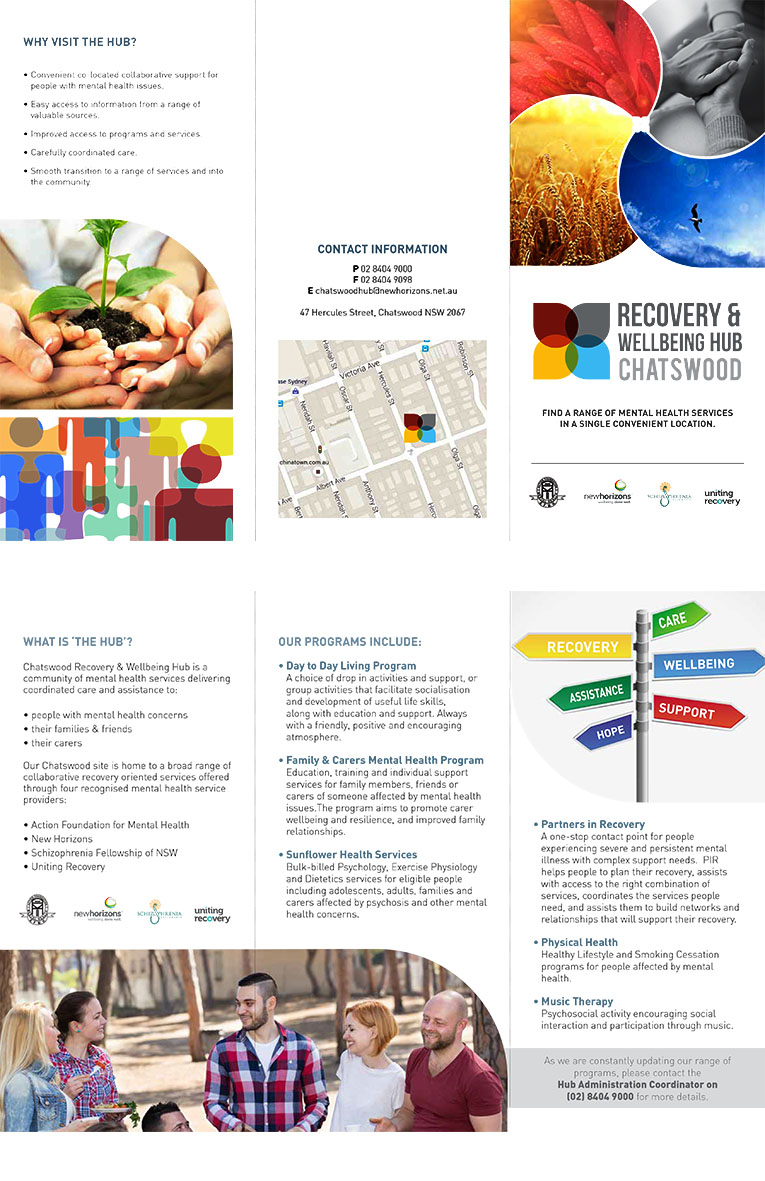 Recovery and Wellbeing Hub Chatswood brochure